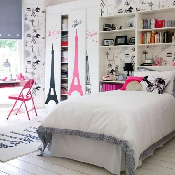 Dormitorio en rosa negro y blanco dormitorios con estilo for Dormitorio rosa