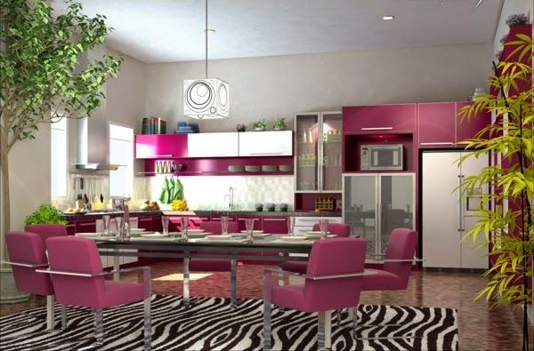 15 modern kitchen design ideas in bright color combinations - Bright kitchen paint ideas ...