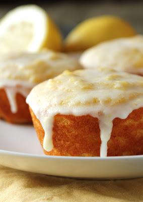 fructose-free, wheat-free, gluten-free lemon glazed muffins