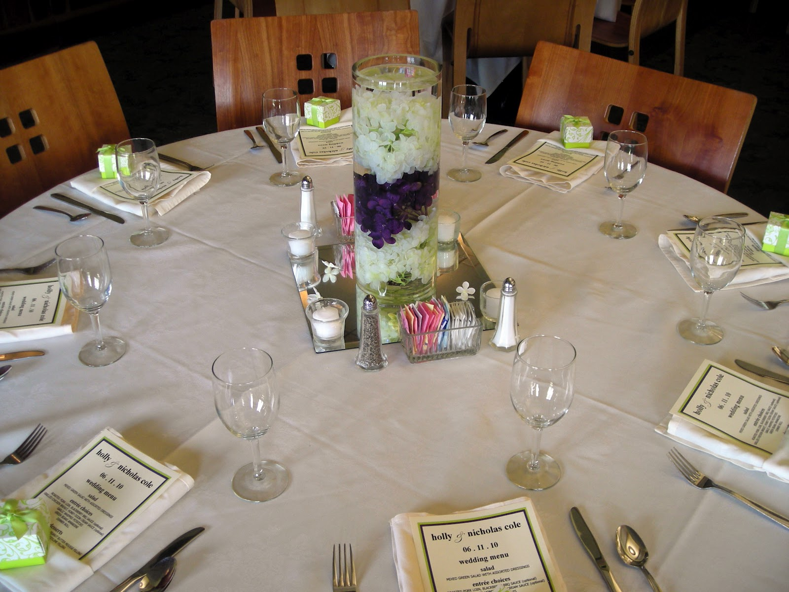Planning tip 15 diy wedding centerpieces elite events rental layer hydrangeas shown here in a 14 cylinder vase rents 7 and a 20x6x6 rectangle vase rents for 8 reviewsmspy