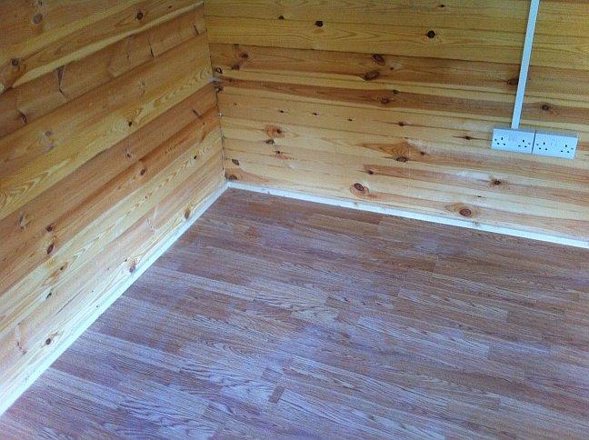 Cabin Living Retrofitting Insulation In A Garden Office Log Cabin