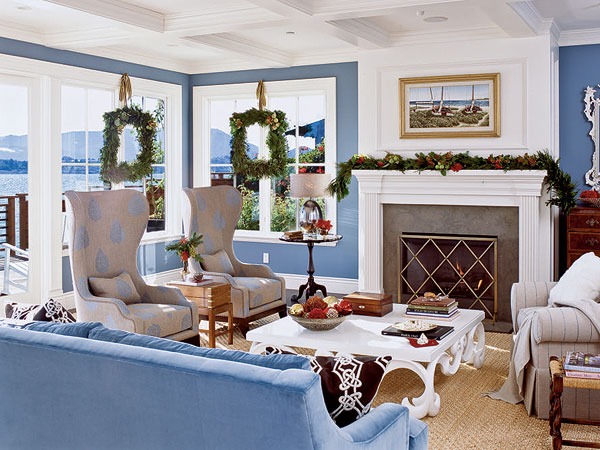 New Home Interior Design Blue Living Room