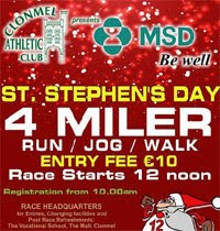 Clonmel 4 mile on Mon 26th Dec 2016