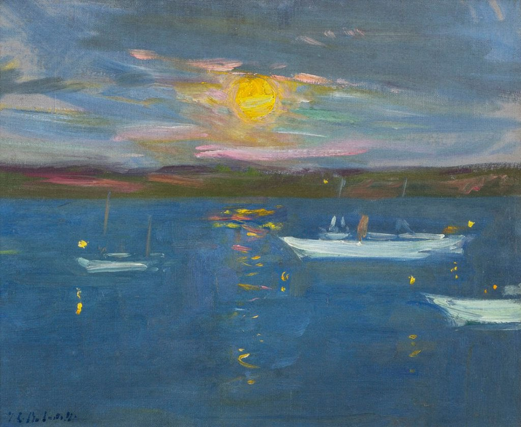 Francis Cadell Harvest Moon Yachts on Iona Sound