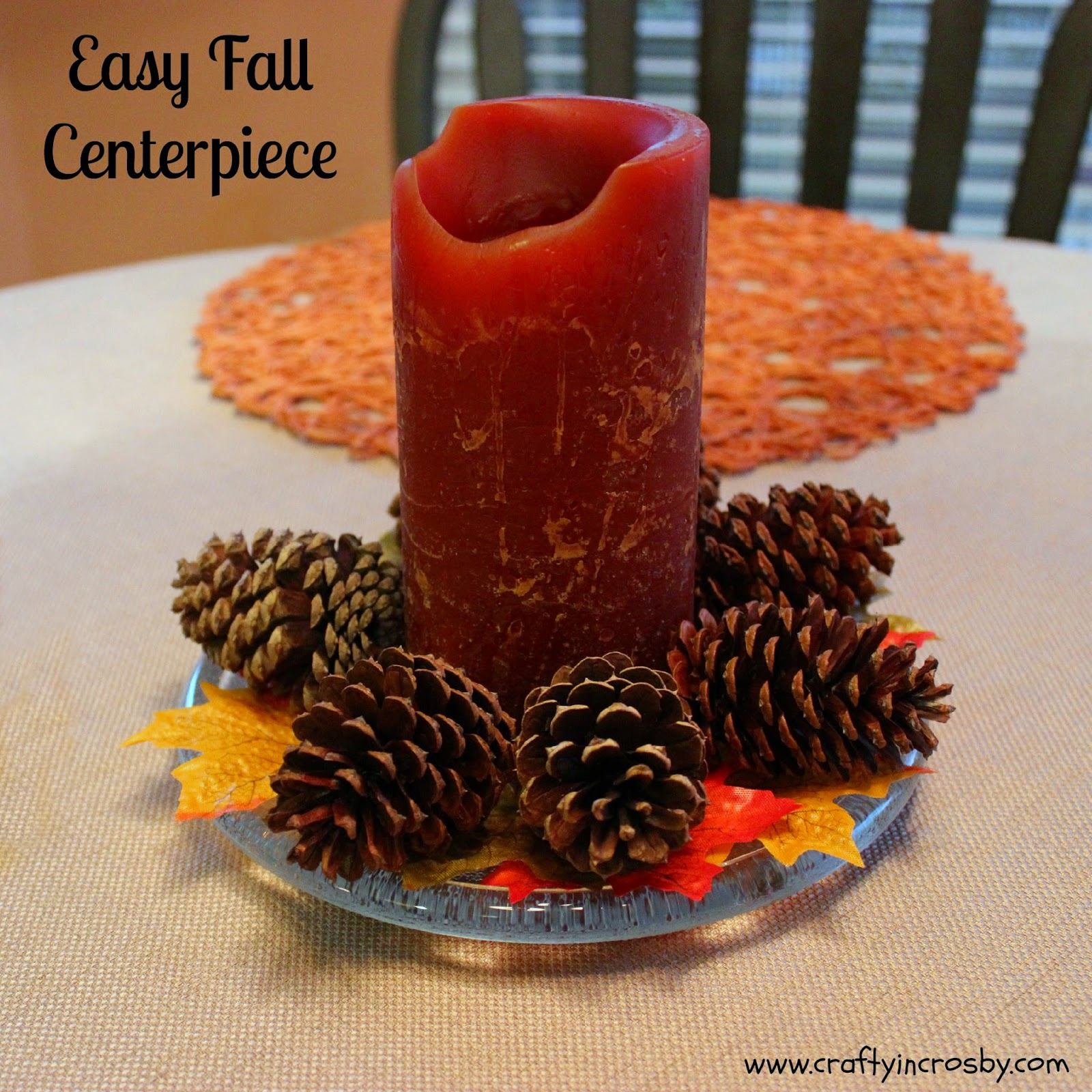 Crafty in crosby easy fall centerpiece