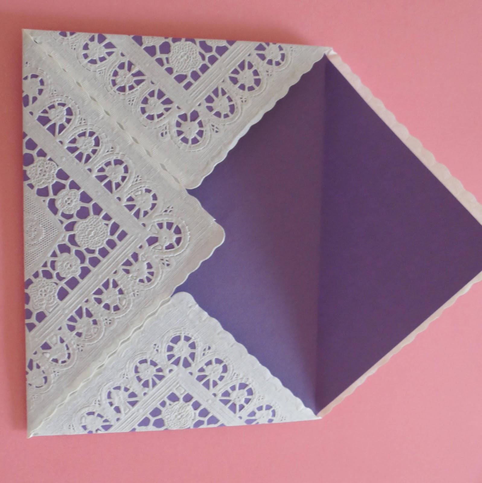 Poppyscabin How To Make A Doily Envelope
