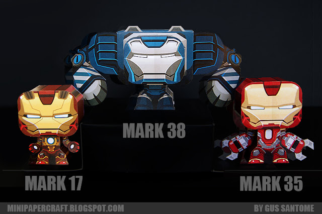 Iron Man Mini Mark 17 35 38 Armor Paper Toy