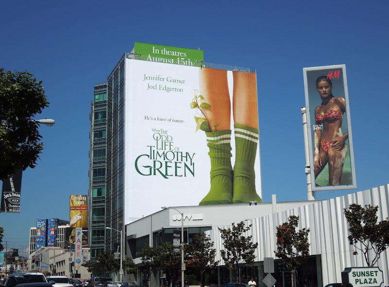 Odd Life of Timothy Green billboard Sunset Strip