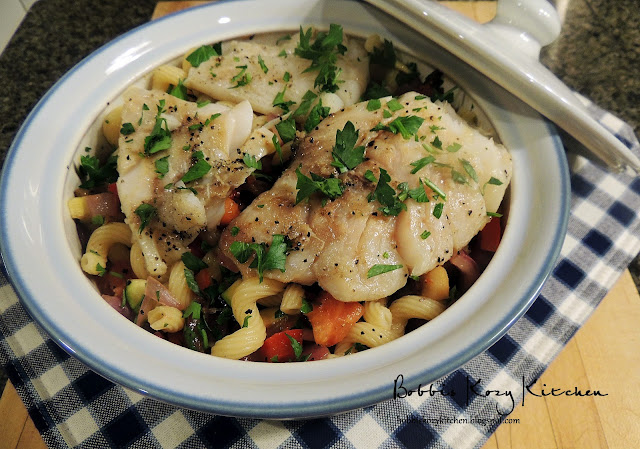Cod with Grilled Ratatouille Pasta | Bobbi's Kozy Kitchen