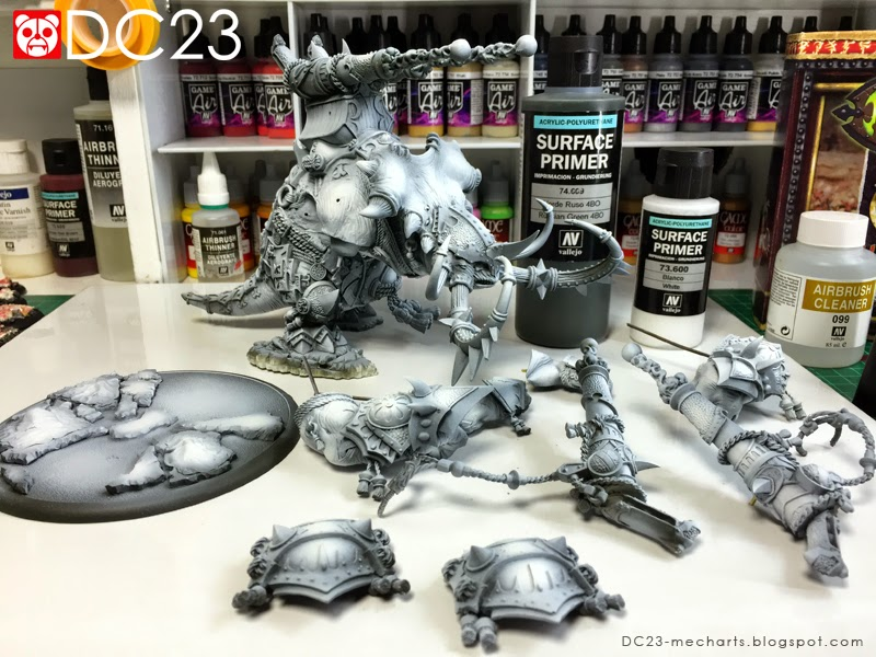 Airbrushing Vallejo Surface Primers and Vallejo Game Airsphoto