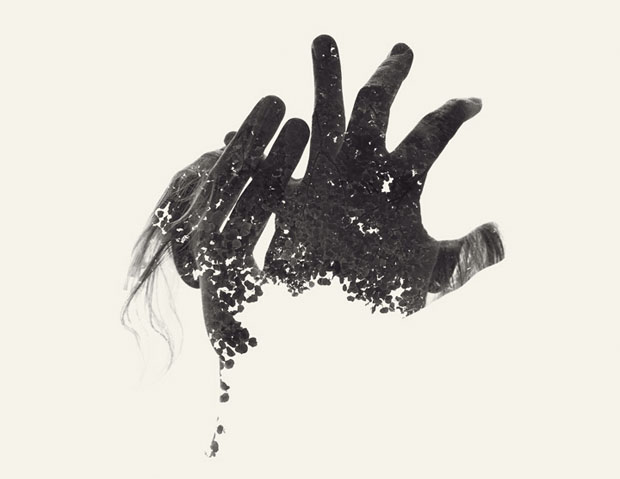 Christoffer Relander,retratos,exposicion,multiple,exposure,Portraits,We Are Nature,blanco,negro,black,white,second,manos,hands
