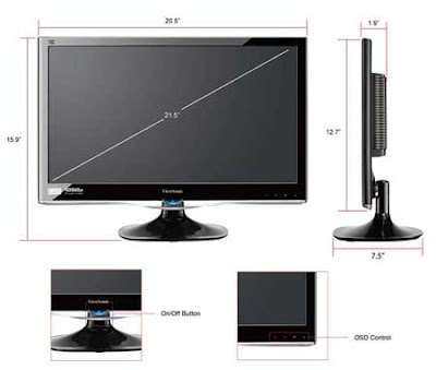 The features of ViewSonic VX2250WM-LED 22-Inch