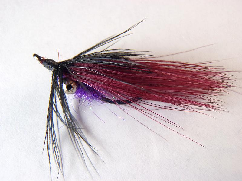 Purple / Black Backstabber Carp Fly