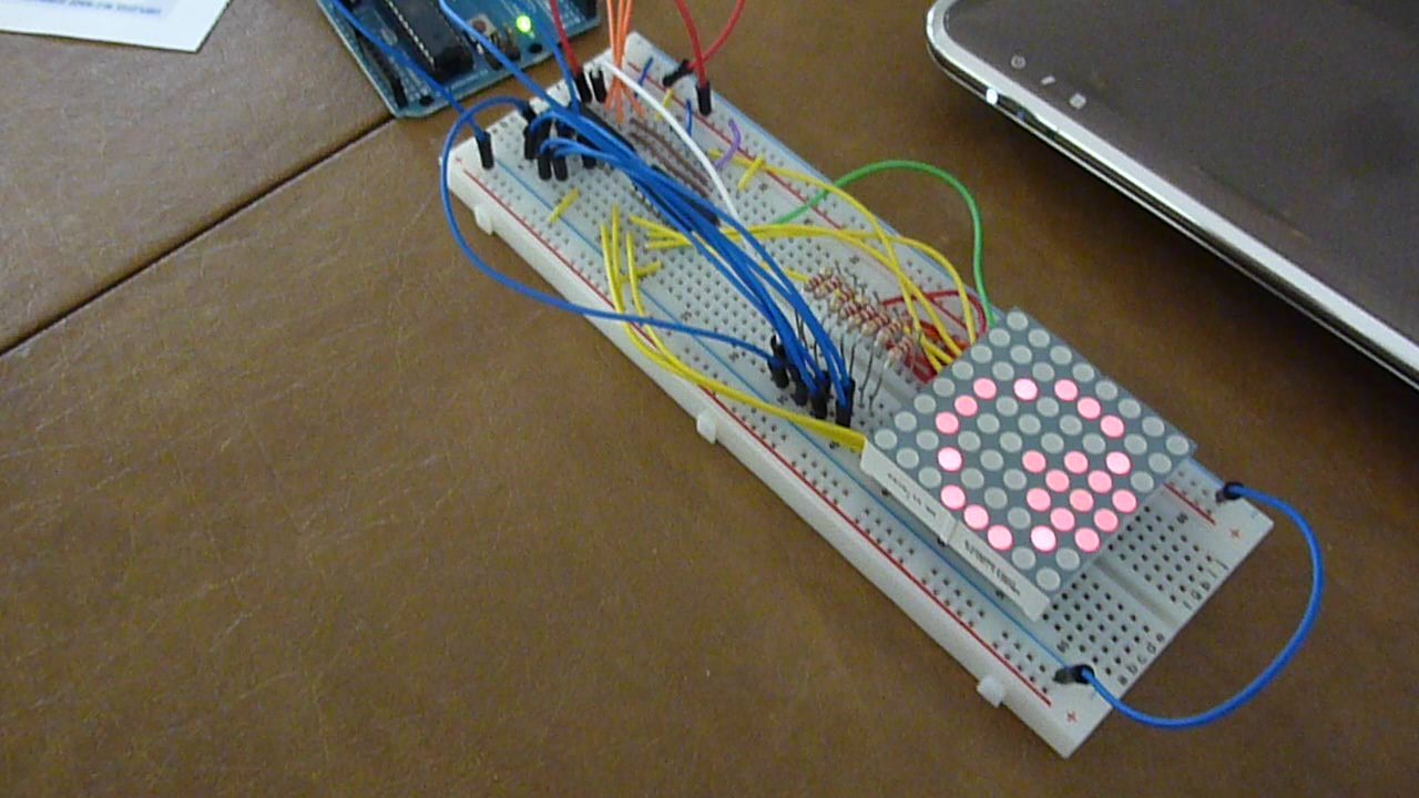 Hands on arduino project led dot matrix display
