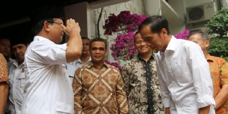 Hormat Prabowo saudara Joko Widodo