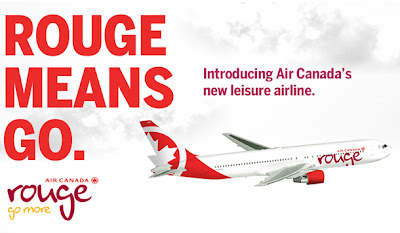 air canada rouge banner