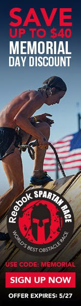 Memorial Day discount- save up to $40 on Spartan Races!