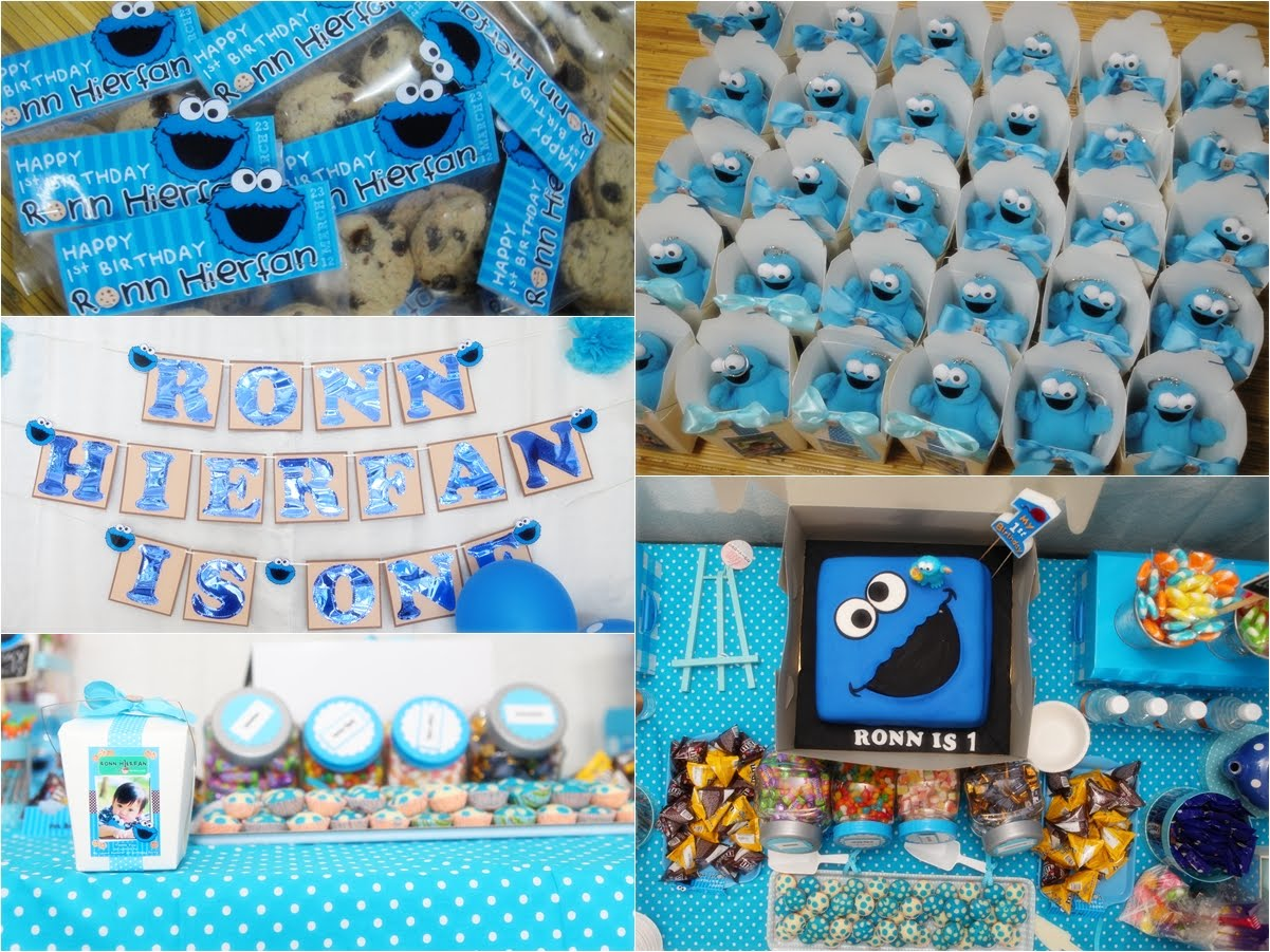 DodiesDesign Ronns 1st COOKIE MONSTER BIRTHDAY PARTY