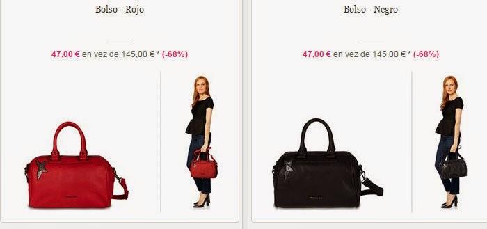 Dos ejemplos de bolsos que podrás comprar en esta oferta por 47 euros