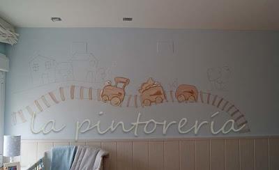 Des murs enchant s d coration chambre enfant avec - Chambre bebe peinture murale ...