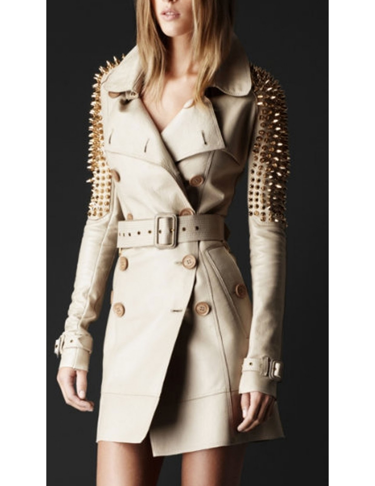 burberry prorsum quilted leather jacket 2011 jacket gabardine cropped biker jacket with contrast leather sleeves