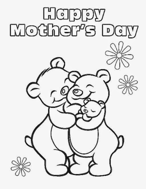 Mothers Day Coloring Pictures