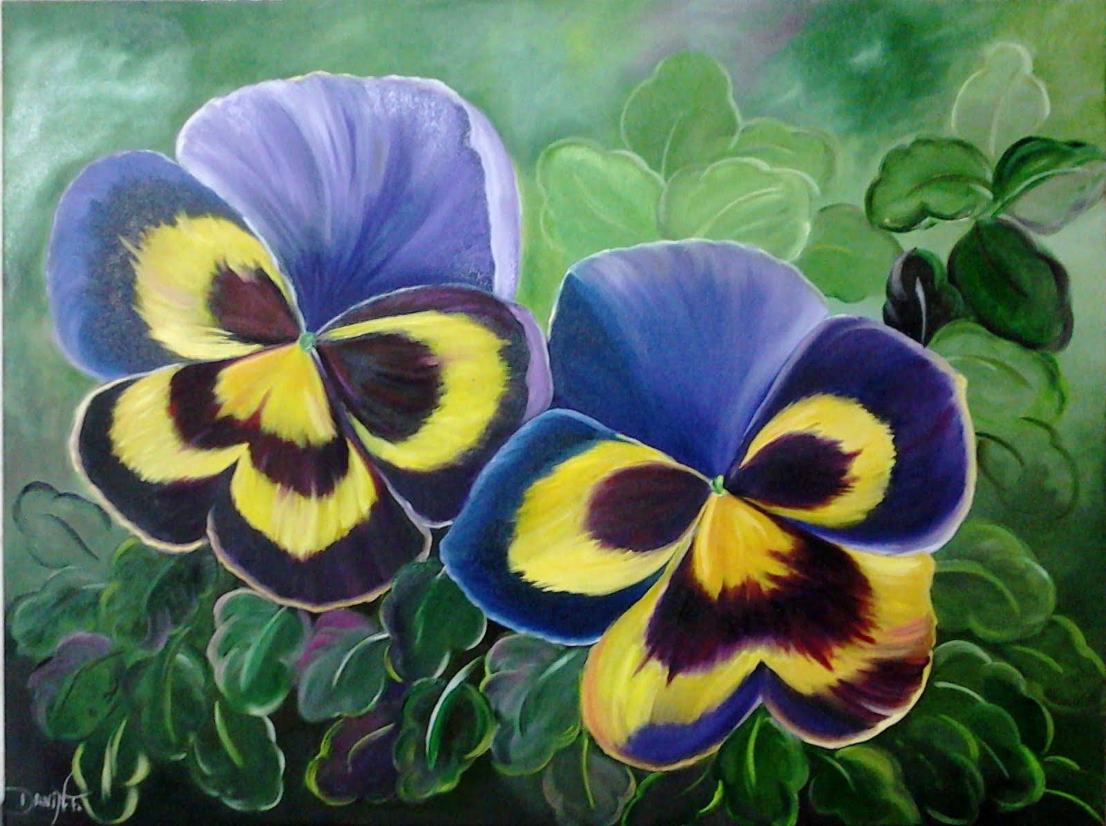 Fotos De Telas Pintadas Com Flores - Quadros de flores em tela pintura moderna artgeist