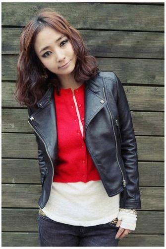 jaket kulit korea wanita