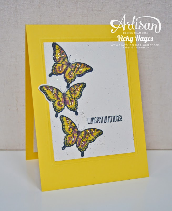 say congratulations with butterflies from Papillon Potpourri by Stampin' Up!