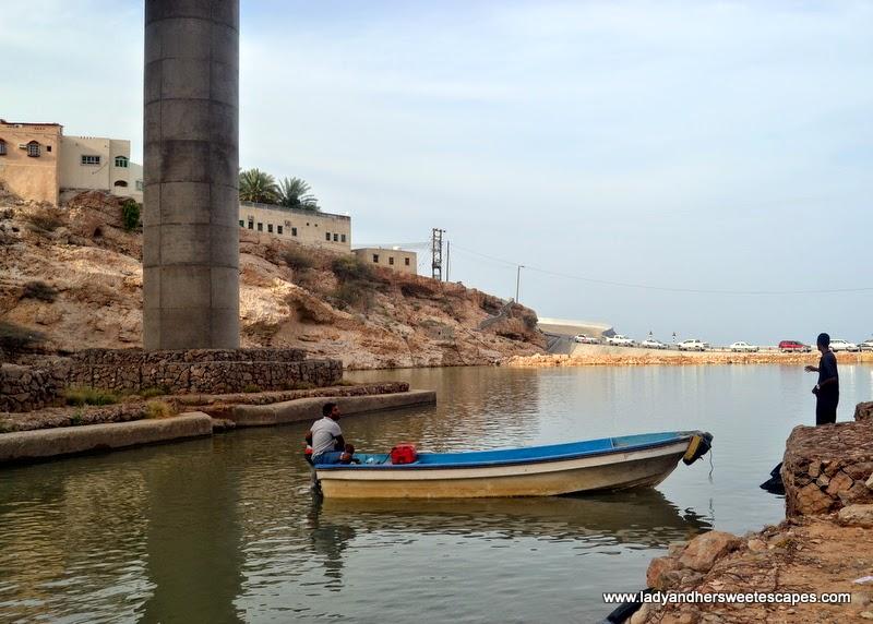 motor boat in Wadi Shab Oman