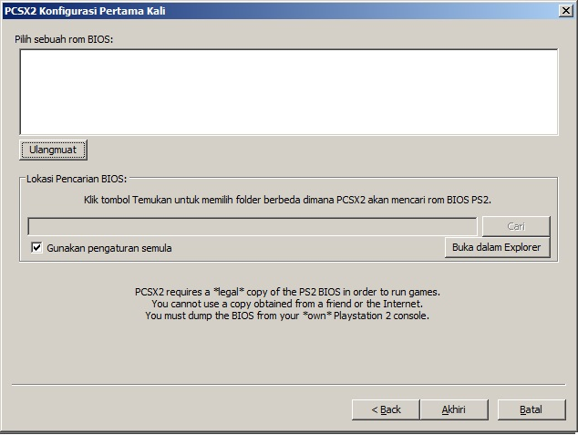 file bios tidak ada PCSX2 Cara main Game PS2 Playstation 2 di komputer PC Laptop Windows dan konfigurasinya