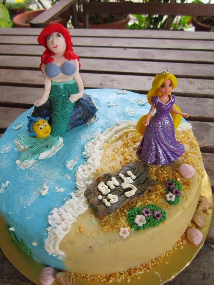 Rapunzel Ariel Cake Foodelicious