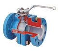 Industrial Ball Valve Cutaway View