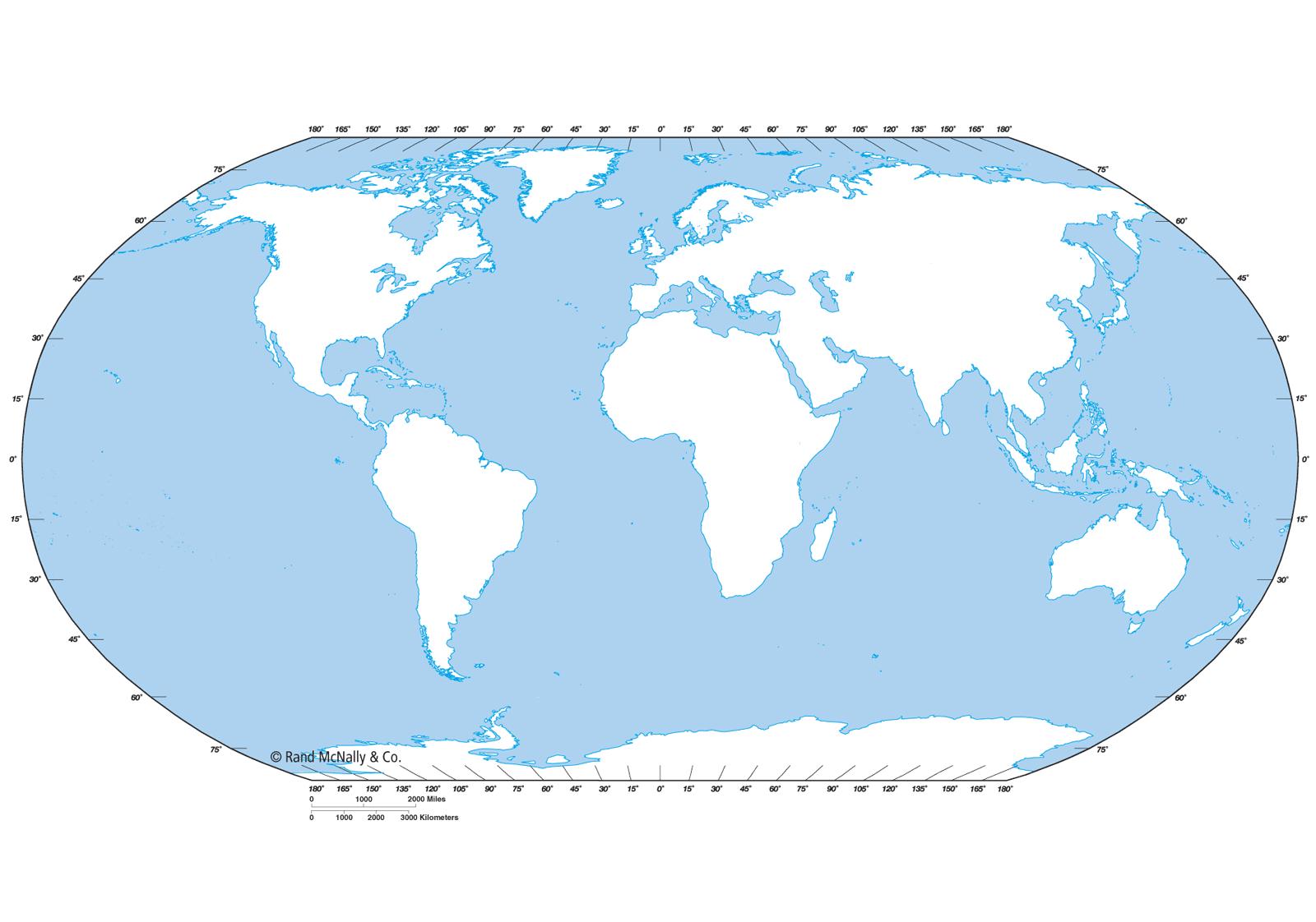 Mapa Mundo de Contorno Outline | Mapa del Mundo