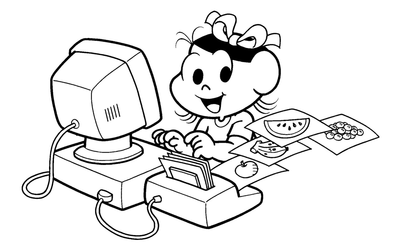 computador para colorir