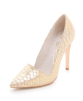 Alice + Olivia Snake Embossed Pumps Heels