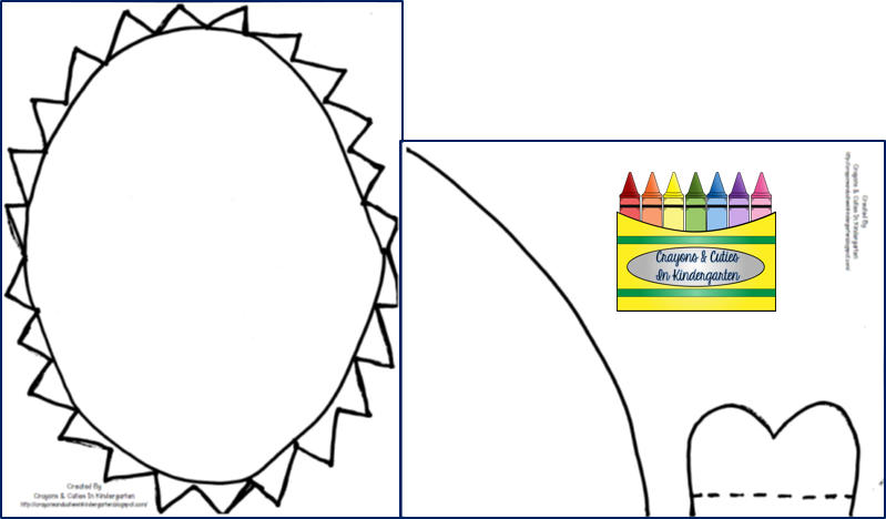 Crayons cuties in kindergarten something to sink your for Shark hat craft template