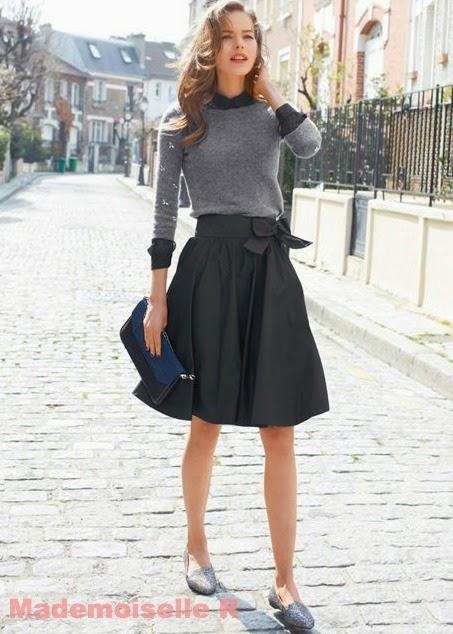 mademoiselle r falda lazo y jersey piedras