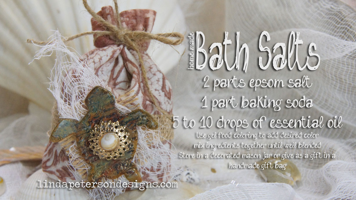 How to make your own bath salts & Gift bag too!