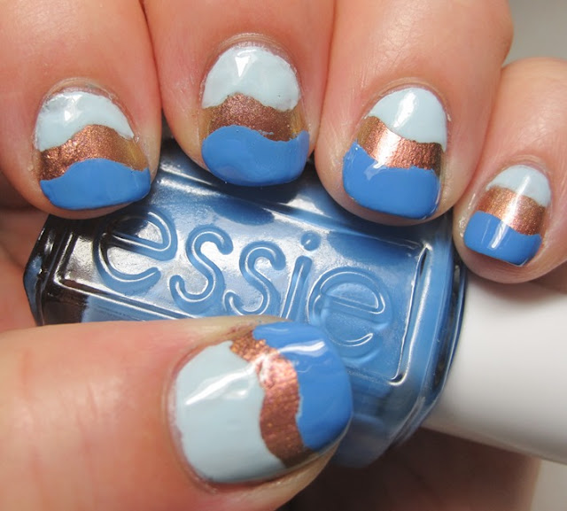 tape mani with Sally Hansen, L'Oreal, and Essie
