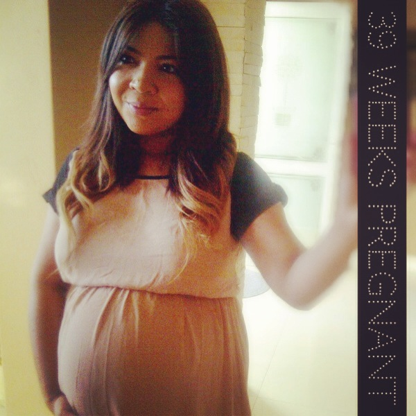 39 weeks pregnant, ombre hair, pregnancy fashion, maternity style