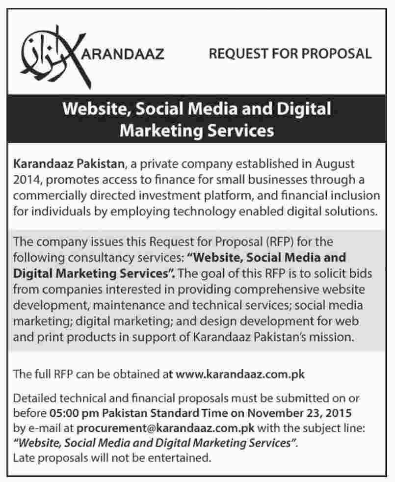 Karandaaz Pakistan Job, Website, Social Media, Digital Marketing