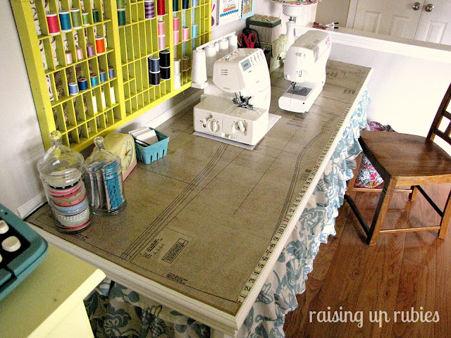 sewing table Raising up Rubies via Funky Junk Interiors