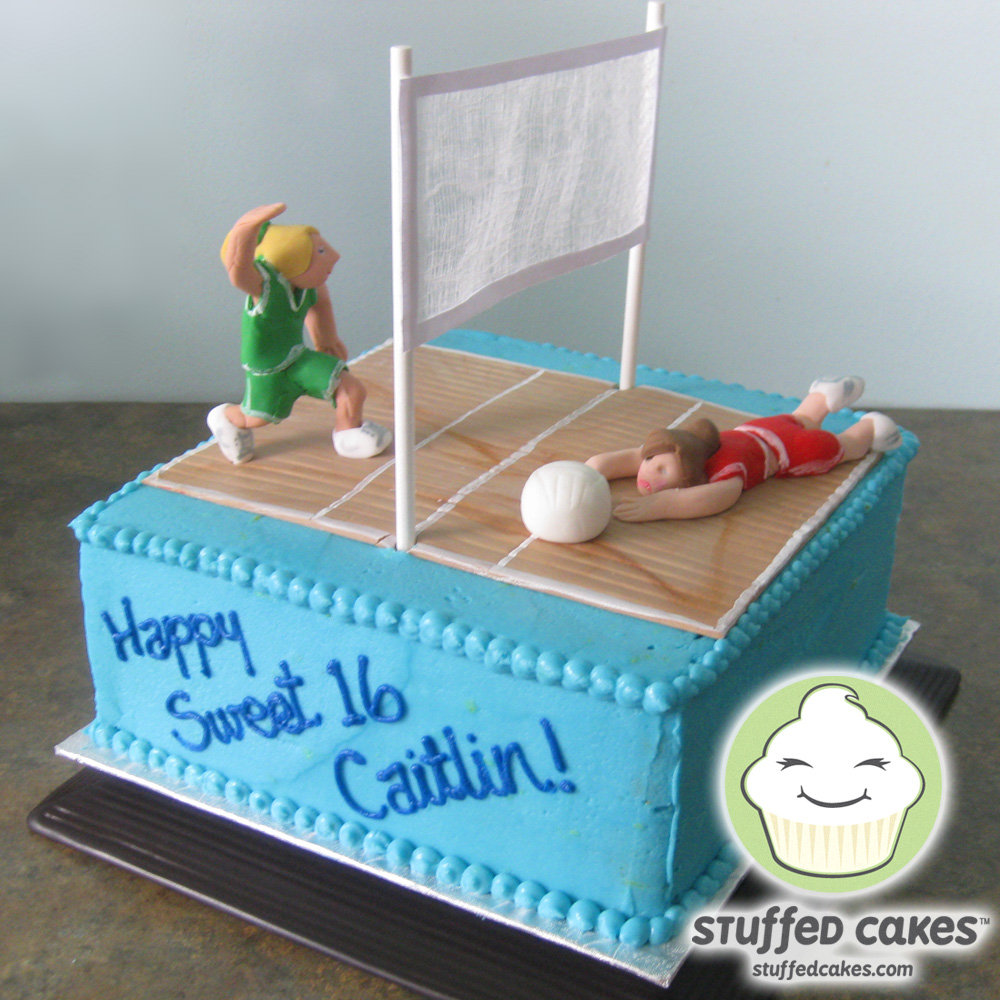 Volleyball Birthday Cake Toppers