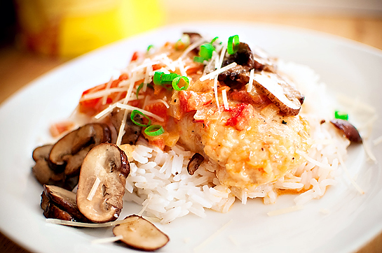 Sauteed Chicken Breasts w/ Roasted Red Pepper Sauce