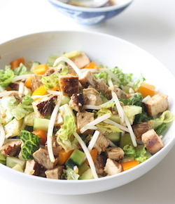 chinese honey bbq chicken salad recipe
