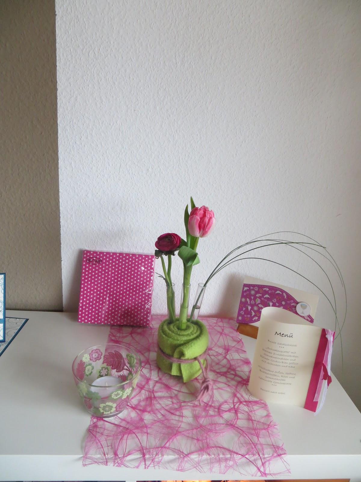 Ideen Oase Tischdeko In Pink