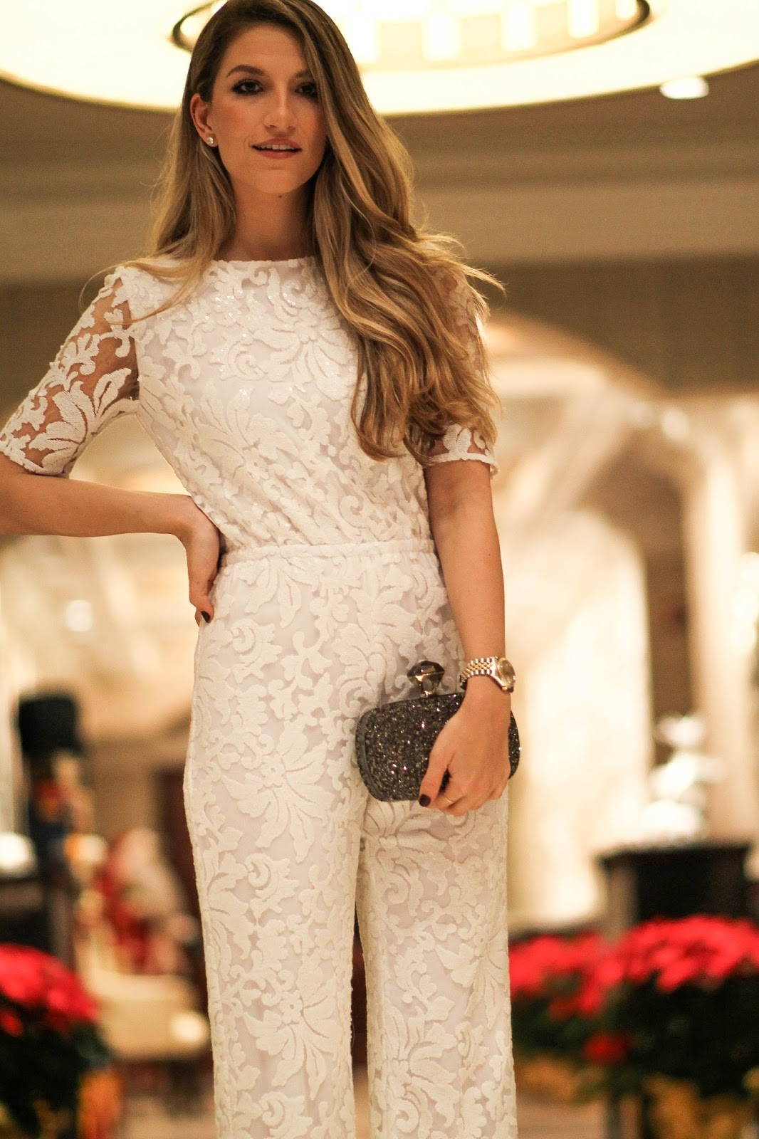 white lace jumpsuit, dressed for dreams