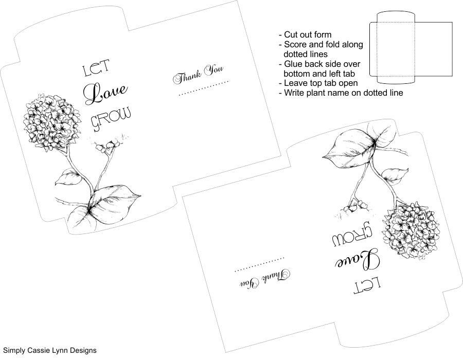 FREE Let Love Grow Printable Seed Packets For Your Wedding And Party Favors