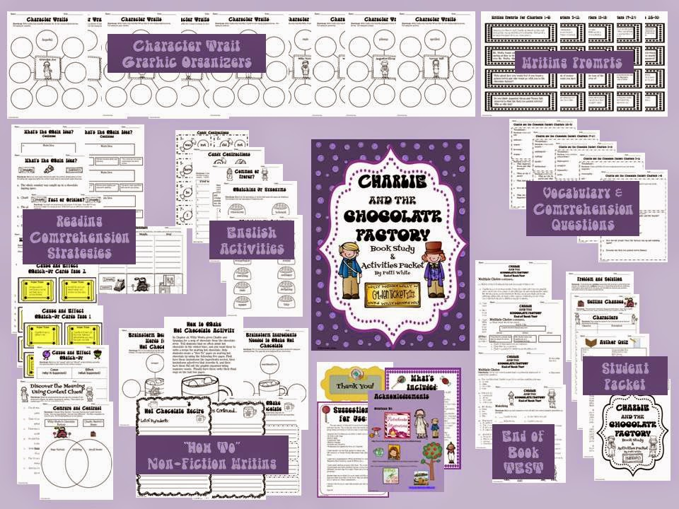 http://www.teacherspayteachers.com/Product/Charlie-and-the-Chocolate-Factory-Book-Study-Activities-Packet-492587
